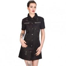 Black Pistol Army Mini Dress Denim (black)