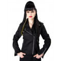 Black Pistol Biker Lady Jacket Denim (black)