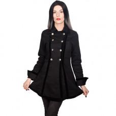 Black Pistol Ladies Pirate Jacket Denim (black)