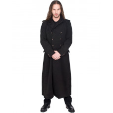 Black Pistol Army Coat Wool (black)