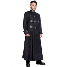 Black Pistol Closure Coat Denim (black)