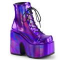 Demonia CAMEL-203 CAM203/PPHG (Purple Hologram Vegan Leather)