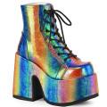 Demonia CAMEL-203 CAM203/RBOWIRIVL (Rainbow Iridescent Vegan Leather)