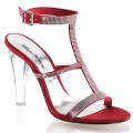 Fabulicious CLEARLY-418 CLE418/ROUSA (Satin ,Rouge)