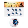 Halloween Eye Balls Augen 8 Stck (White)