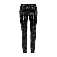 Lovesect Skinny Pants Laced Up Shiny PVC (black)