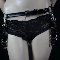 Lovesect Bunny Belt Harness Vegan Leather (black)