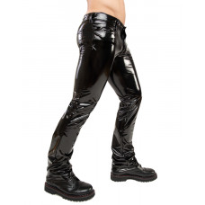 Mode Wichtig Skinny Pants Shiny PVC (black)