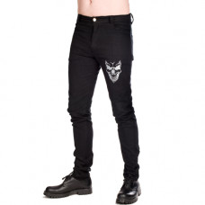 Mode Wichtig Skinny Pants Skull (black)