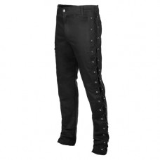 Mode Wichtig Skinny Pants Laced Up (black)