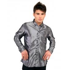 mode wichtig Classic Shirt 2-tone Satin (silver)