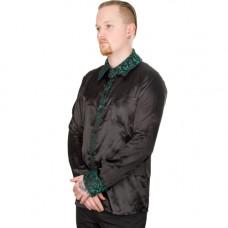 Mode Wichtig Classic Shirt Glossy Brocade (Black-Green)