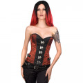 Mode Wichtig Steampunk Corset Brocade (red)