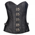 Mode Wichtig Steampunk Corset Leather (black)