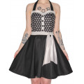 Mode Wichtig Rockabilly Dots Dress (Black-and-white)
