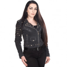Mode Wichtig Ladys Rockstar Extreme Jacket Jeans (black)
