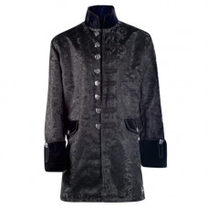 Mode Wichtig Steampunk Frock Coat Brocade (black)