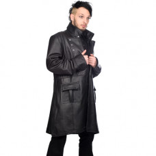 Mode Wichtig Mens Military Coat Nappa Leather (black)