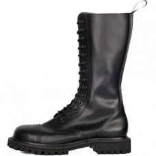 Mode Wichtig 14-Eye Steel Boots Leather (black)