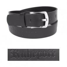 Mode Wichtig Leder-Gürtel Ruhrpott (black)