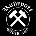 Auto-Aufkleber RUHRPOTT Glück Auf 10x10cm (black)