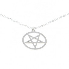 Mode Wichtig Necklace + Pendant Pentagram (Stainless Steel)