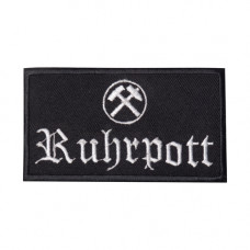 Mode Wichtig Patch Ruhrpott Aufnäher 10x5cm (black)