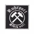 Patch RUHRPOTT Glück Auf Aufnäher 7x7cm (black)