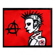 Patch Anarchy Girl Aufnäher 11x9cm (red)