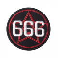 Mode Wichtig Patch Pentagram 666 Aufnäher 3cm (black)