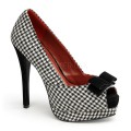 Pin Up Couture BELLA-11 BELLA11/HOF-B (Â'Houndstooth Stoff-Blk)