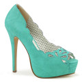 Pin Up Couture BELLA-30 BELLA30/TLPU (Teal Faux Leather)