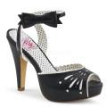 Pin Up Couture BETTIE-01 BETT01/BPU (BLK leatherette)