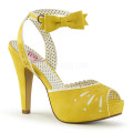 Pin Up Couture BETTIE-01 BETT01/YLPU (Yellow Faux Leather)