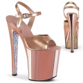 Pleaser XTREME-809TTG XTM809TTG/RGMPU/RGCH (Rose Gold Metallic Pu/Rose Gold Chrome-Gltr)