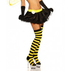 ATIXO Ringel-Overknees (black yellow)
