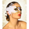 ATIXO Maske (white / gold)