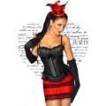 ATIXO Burlesque-Corsage (black)