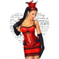 ATIXO Burlesque-Corsage (Red Black)