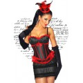 ATIXO Burlesque-Corsage (black red)