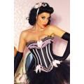 ATIXO Burlesque-Corsage (black / pink)