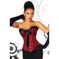 ATIXO Burlesque-Satin-Corsage (Red Black)