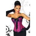 ATIXO Burlesque-Satin-Corsage (purple / black)