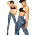 ATIXO Jeans-Print-Leggings (blau)