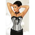 ATIXO Rockabilly-Corsage (White black)