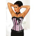 ATIXO Rockabilly-Corsage (pink / black)