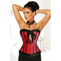 ATIXO Rockabilly-Corsage (Red Black)