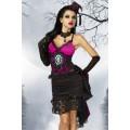 ATIXO Vampirkostüm (schwarz / pink)