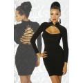 ATIXO Kleid mit Schnürung (black)