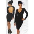 ATIXO Kleid rückenfrei (black)